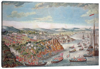 A View of the Taking of Quebec, September 13th 1759  Canvas Art Print