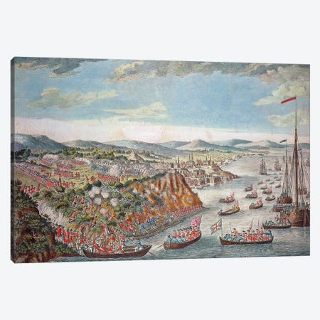 A View of the Taking of Quebec, September 13th 1759  Canvas Print #BMN3235} by English School Canvas Art Print
