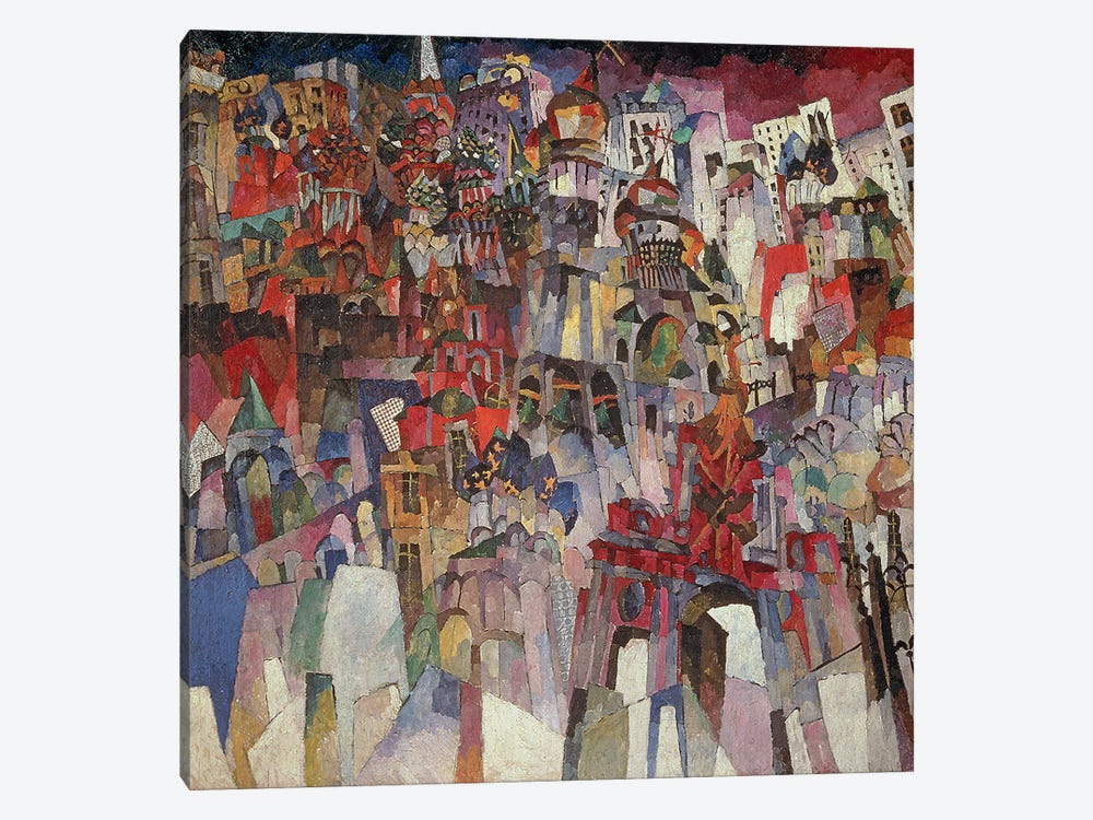 Moscow, 1913  by Aristarkh Vasilievic Lentulov 1-piece Canvas Wall Art