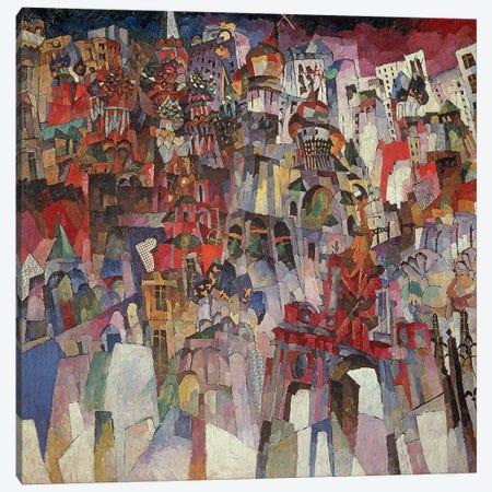 Moscow, 1913  Canvas Print #BMN3244} by Aristarkh Vasilievic Lentulov Canvas Wall Art