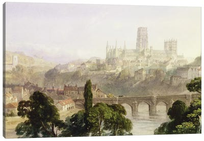 Durham Cathedral, 1846  Canvas Art Print