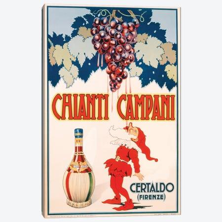 Poster advertising Chianti Campani, printed by Necchi, Milan, 1940  Canvas Print #BMN3248} by Italian School Canvas Print