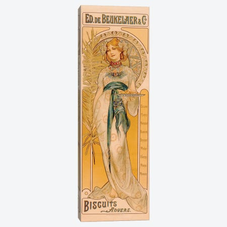 Poster advertising Ed. de Beukelaer & Co. Biscuits Anvers, printed by F. Champenois, Paris, c.1899  Canvas Print #BMN3249} by French School Canvas Print