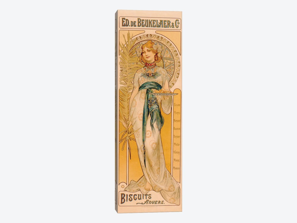 Poster advertising Ed. de Beukelaer & Co. Biscuits Anvers, printed by F. Champenois, Paris, c.1899  by French School 1-piece Art Print