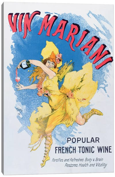 Advertisement for 'Vin Mariani' from 'Theatre' magazine, 1901  Canvas Art Print