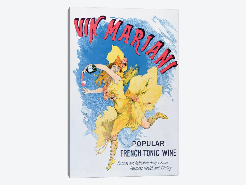Advertisement for 'Vin Mariani' from 'Theatre' magazine, 1901  by English School 1-piece Canvas Art Print