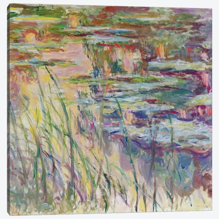 Reflections on the Water, 1917  Canvas Print #BMN3251} by Claude Monet Canvas Wall Art