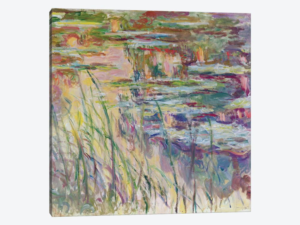 Reflections on the Water, 1917  by Claude Monet 1-piece Canvas Artwork