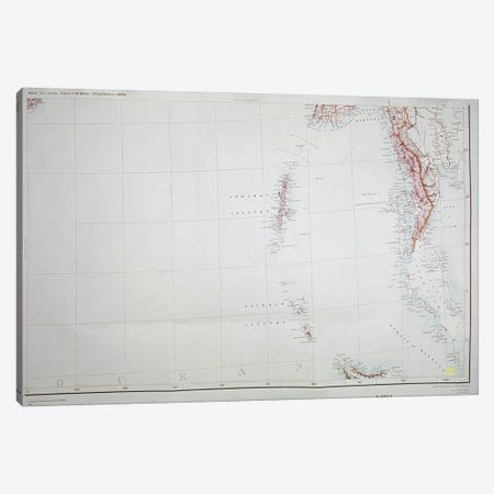 Map of the Andaman and Nicobar Islands, Bay of Bengal, 1898  Canvas Print #BMN3272} by English School Canvas Wall Art