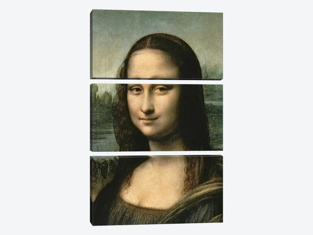 Mona Lisa, c.1503-6   by Leonardo da Vinci 3-piece Canvas Print