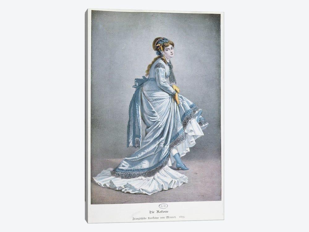'Die Kokotte', 1875  by Claude Monet 1-piece Canvas Print