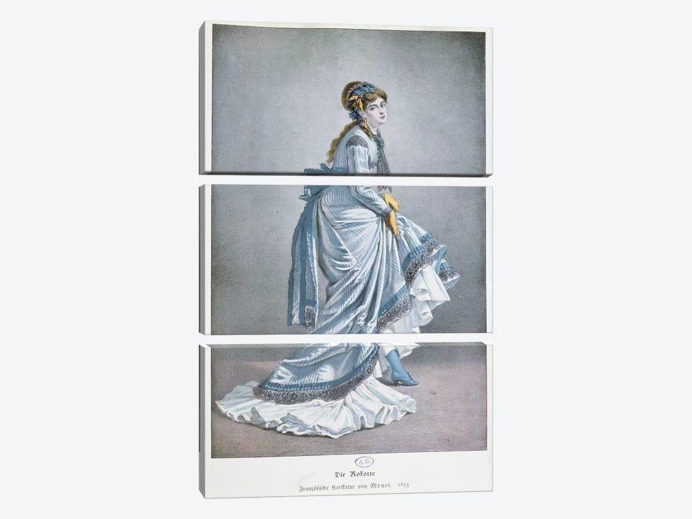 'Die Kokotte', 1875  by Claude Monet 3-piece Art Print