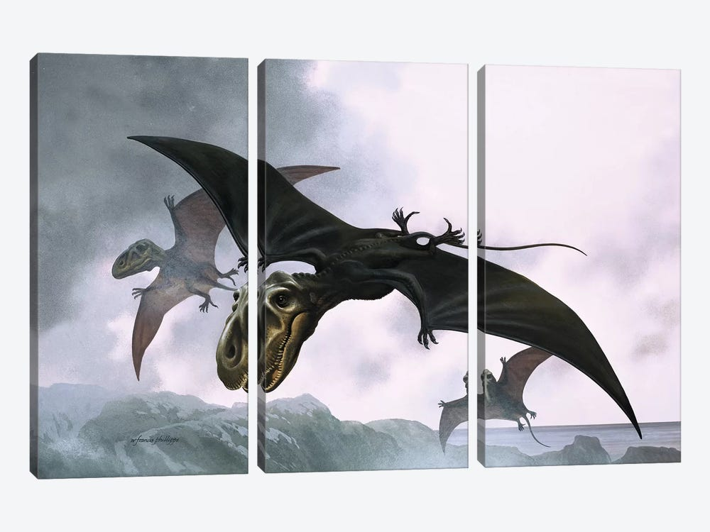 Dimorphodon by William Francis Phillipps 3-piece Canvas Wall Art
