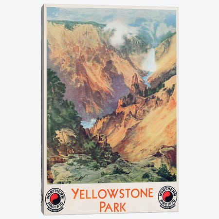 Yellowstone Park, 1934  Canvas Print #BMN3311} by Thomas Moran Canvas Print