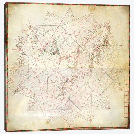 Map of the Adriatic Sea  Canvas Print #BMN3320} by Grazioso Benincasa Canvas Artwork