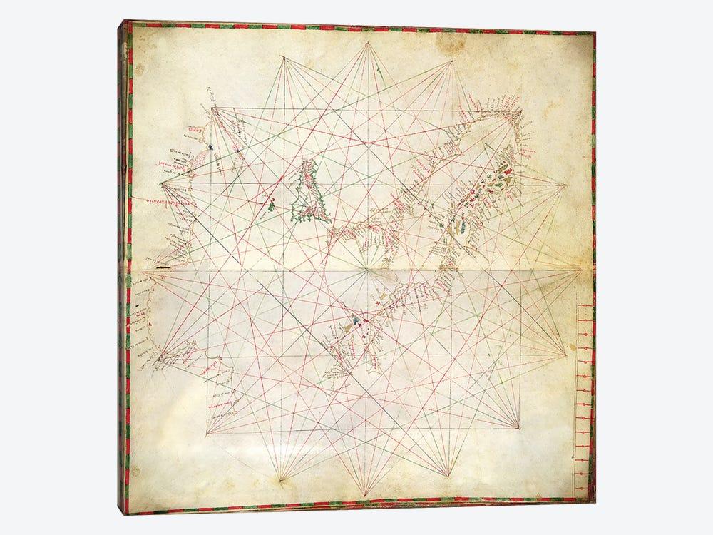 Map of the Adriatic Sea  by Grazioso Benincasa 1-piece Art Print