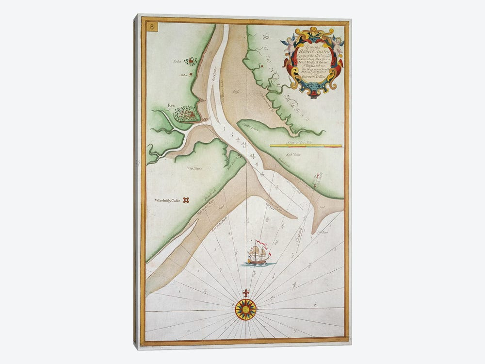 Rye and Winchelsea Castle  by English School 1-piece Canvas Art