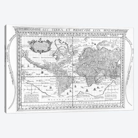 Nova Totius Terrarum Orbis Geographica Ac Hydrographica Tabula, 1642  Canvas Print #BMN3327} by Dutch School Canvas Print