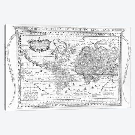 Nova Totius Terrarum Orbis Geographica Ac Hydrographica Tabula, 1642  Canvas Print #BMN3327} by Dutch School Canvas Print