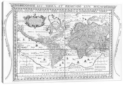 Nova Totius Terrarum Orbis Geographica Ac Hydrographica Tabula, 1642  Canvas Art Print