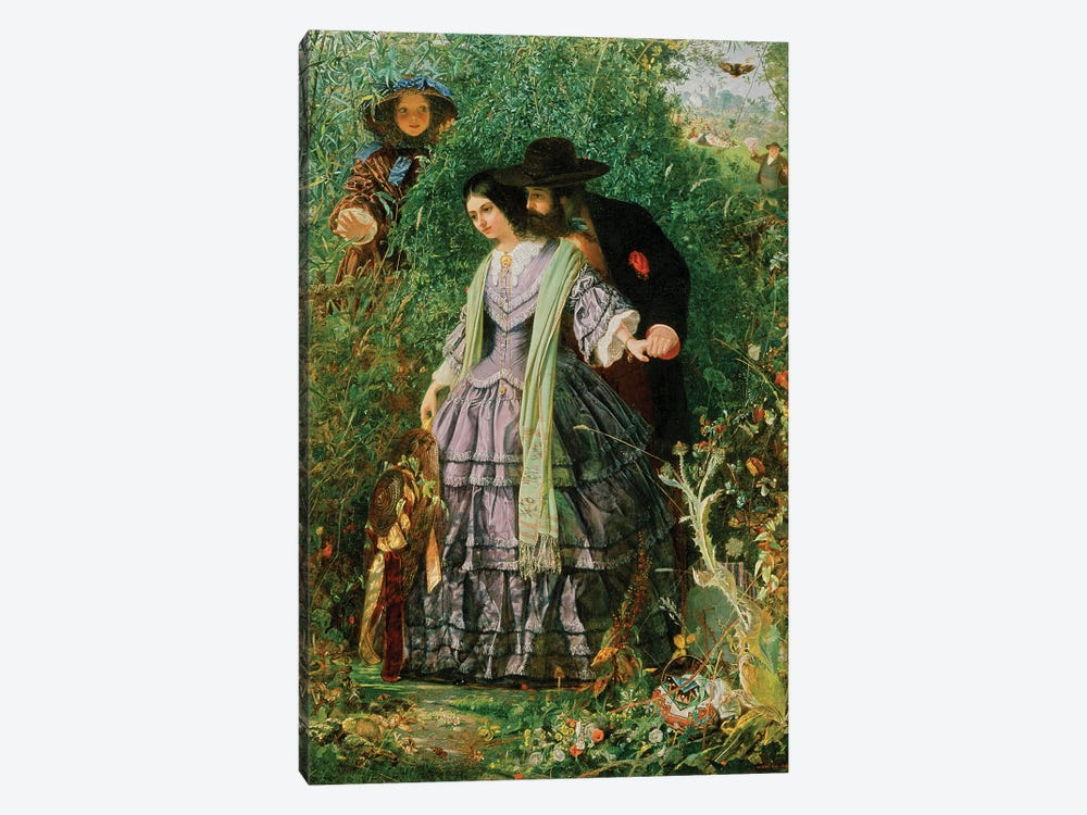 The Secret, 1858 by William Henry Fisk 1-piece Art Print