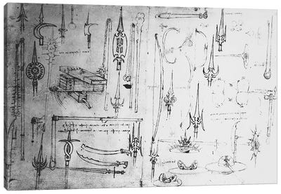 Weapons and shields, c.1487-88  Canvas Print #BMN3341