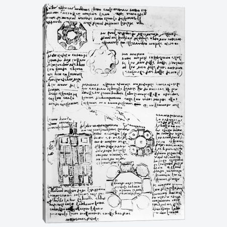 Design for a palace and park  Canvas Print #BMN3351} by Leonardo da Vinci Canvas Print