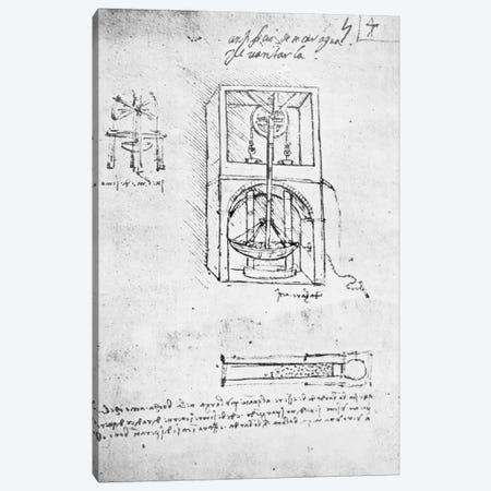 Fol. 54r from Paris Manuscript B, 1488-90  Canvas Print #BMN3358} by Leonardo da Vinci Canvas Print
