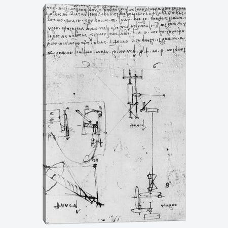 Fol. 46v, from the Codex Forster III, 1480s-1494  Canvas Print #BMN3360} by Leonardo da Vinci Canvas Wall Art