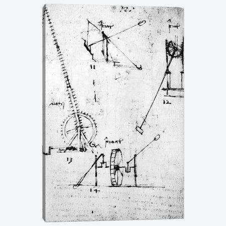 A page from the Codex Forster, 1480s-1494  Canvas Print #BMN3361} by Leonardo da Vinci Canvas Art