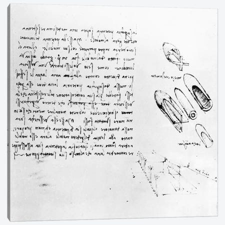Fol. 49v from the Codex Arundel 263, 1490s-1518  Canvas Print #BMN3380} by Leonardo da Vinci Canvas Artwork