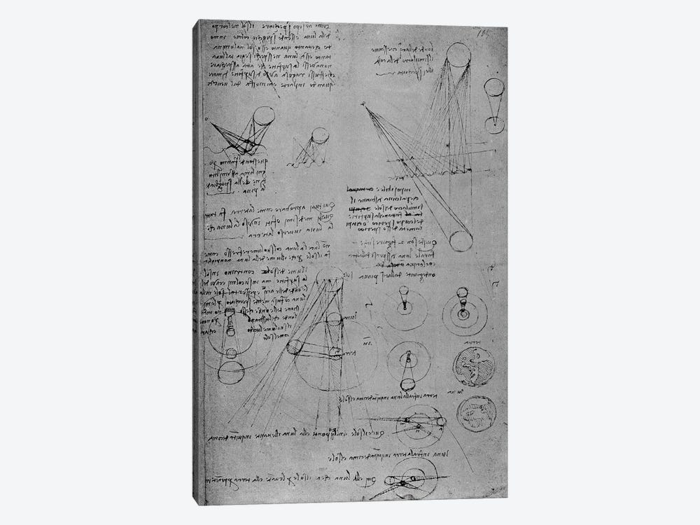 Astronomical diagrams, from the Codex Leicester, 1508-12  1-piece Canvas Artwork