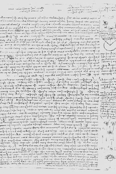 Page from the Codex Leicester, 1508-12 Ca      Leonardo da Vinci   iCanvas