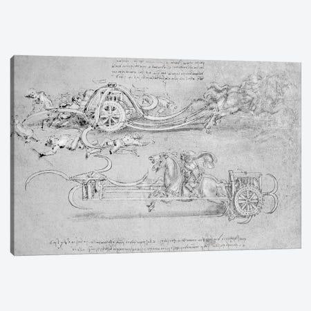 Scythed Chariot, c.1483-85  Canvas Print #BMN3386} by Leonardo da Vinci Canvas Art Print