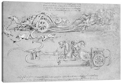 Scythed Chariot, c.1483-85  Canvas Art Print