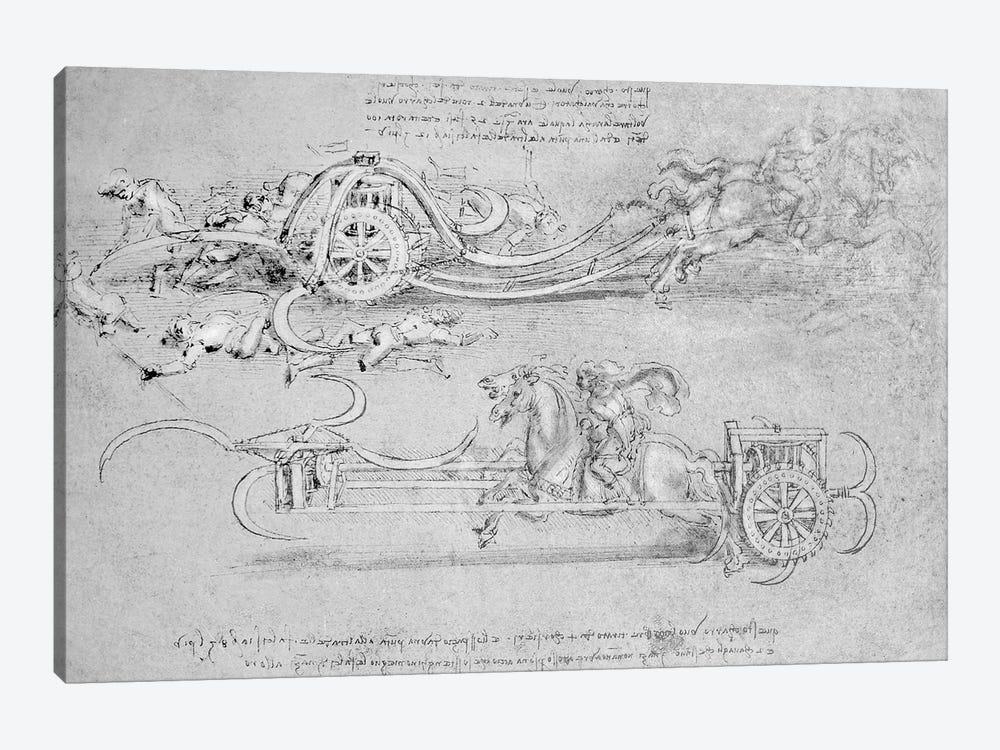 Scythed Chariot, c.1483-85  by Leonardo da Vinci 1-piece Canvas Art Print