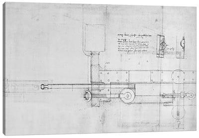 Diagram of a Mechanical Bolt  Canvas Print #BMN3388