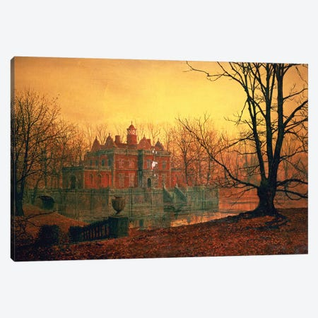 The Haunted House Canvas Print #BMN338} by John Atkinson Grimshaw Canvas Art