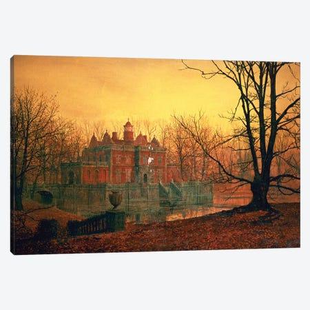 The Haunted House Canvas Print #BMN338} by John Atkinson Grimshaw Canvas Art