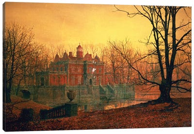 The Haunted House Canvas Art Print