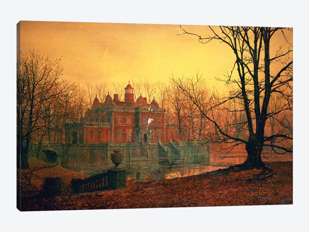 The Haunted House by John Atkinson Grimshaw 1-piece Canvas Wall Art