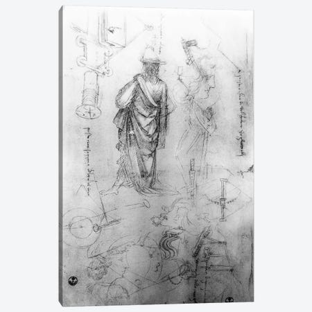 Studies  Canvas Print #BMN3394} by Leonardo da Vinci Canvas Wall Art