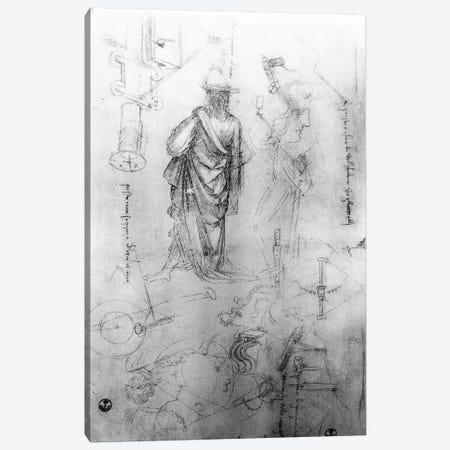 Studies  Canvas Print #BMN3394} by Leonardo da Vinci Canvas Wall Art