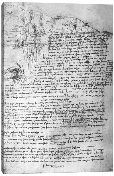 Fol.145v-b, page from Da Vinci's notebook  Canvas Print #BMN3399