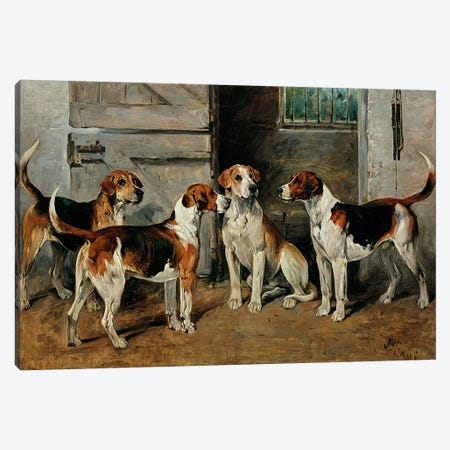 Study of Hounds Canvas Print #BMN339} by John Emms Canvas Art