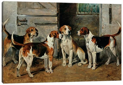 Study of Hounds Canvas Art Print