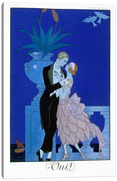 Yes! 1921 (colour litho) Canvas Art Print