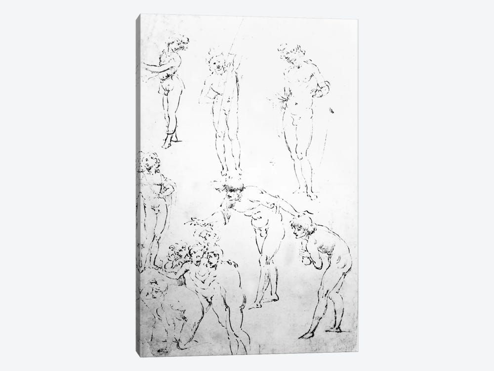 Figural Studies for the Adoration of the Magi, c.1481  1-piece Canvas Art