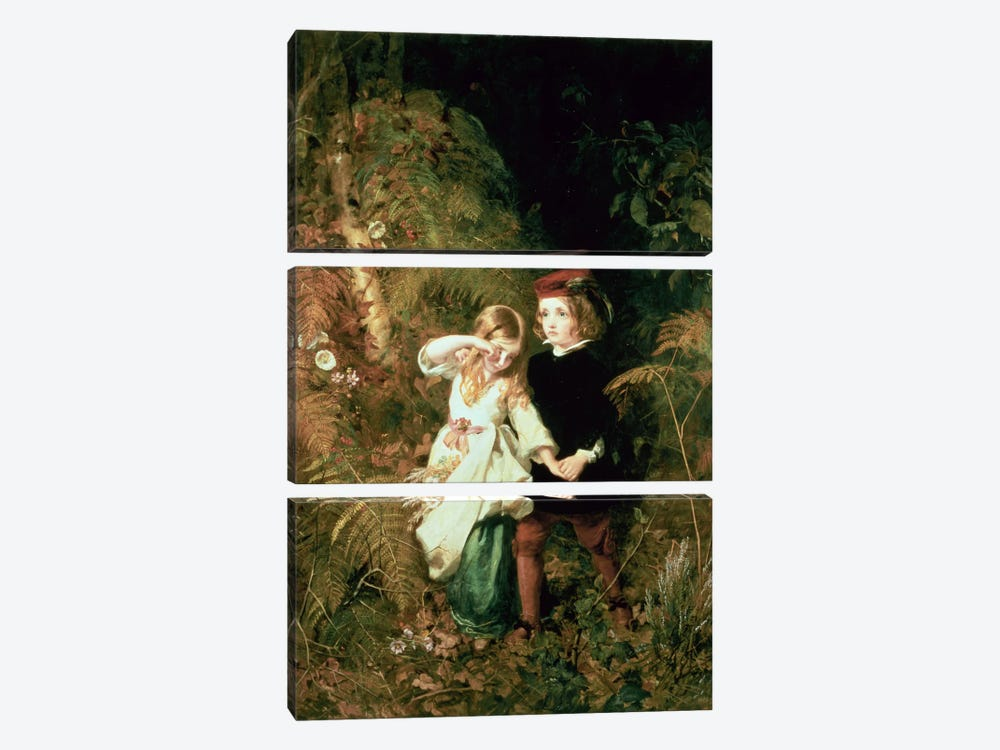 Children in the Wood by James Sant 3-piece Canvas Print