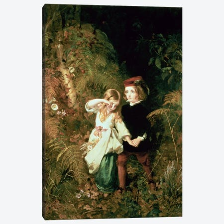Children in the Wood Canvas Print #BMN340} by James Sant Art Print